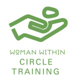 Woman Within Circle Training Logo